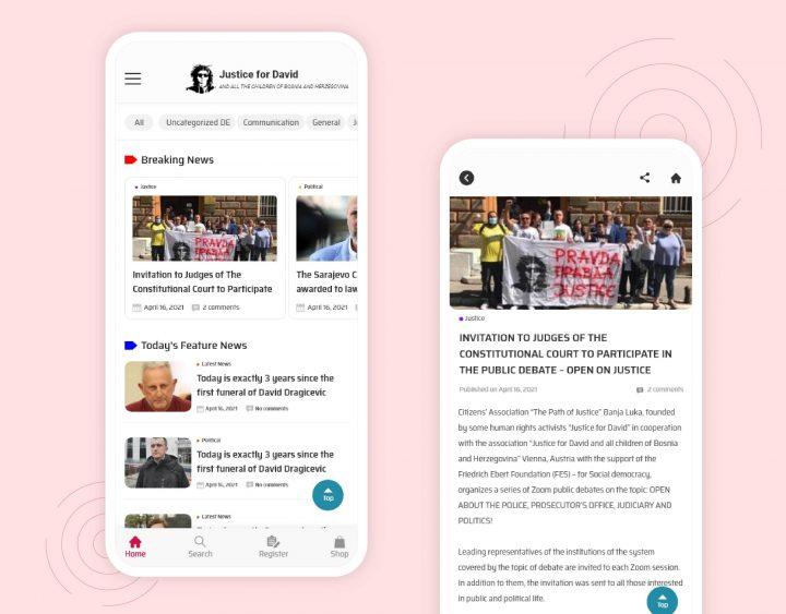 Pravdazadavida Mobile App UI Design